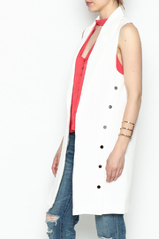 Jealous Tomato Long White Blazer - Product Mini Image