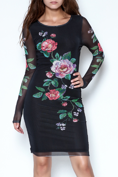 Shoptiques Product: Mesh Floral Dress