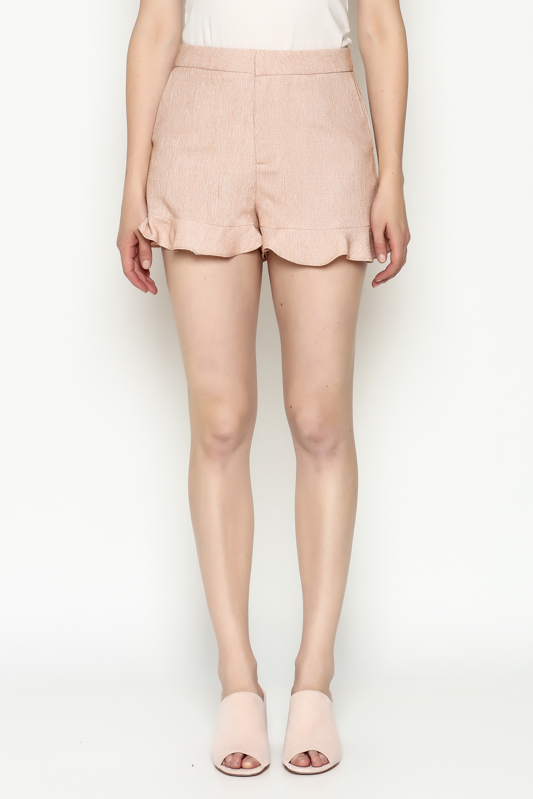 Jealous Tomato Ruffled Shorts - Front Full Image