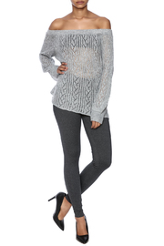 Jealous Tomato Off Shoulder Sweater - Front full body
