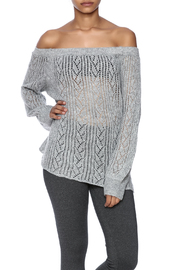 Jealous Tomato Off Shoulder Sweater - Front cropped