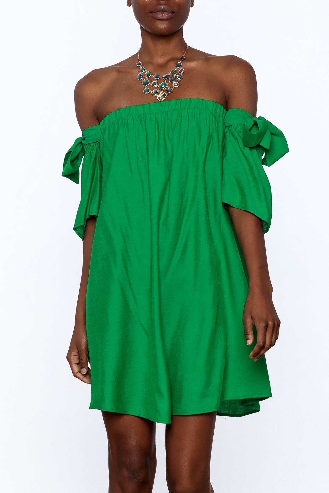 Jealous Tomato Green Shift Dress - Front Cropped Image