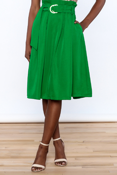 Shoptiques Product: Green Pleated Knee Skirt