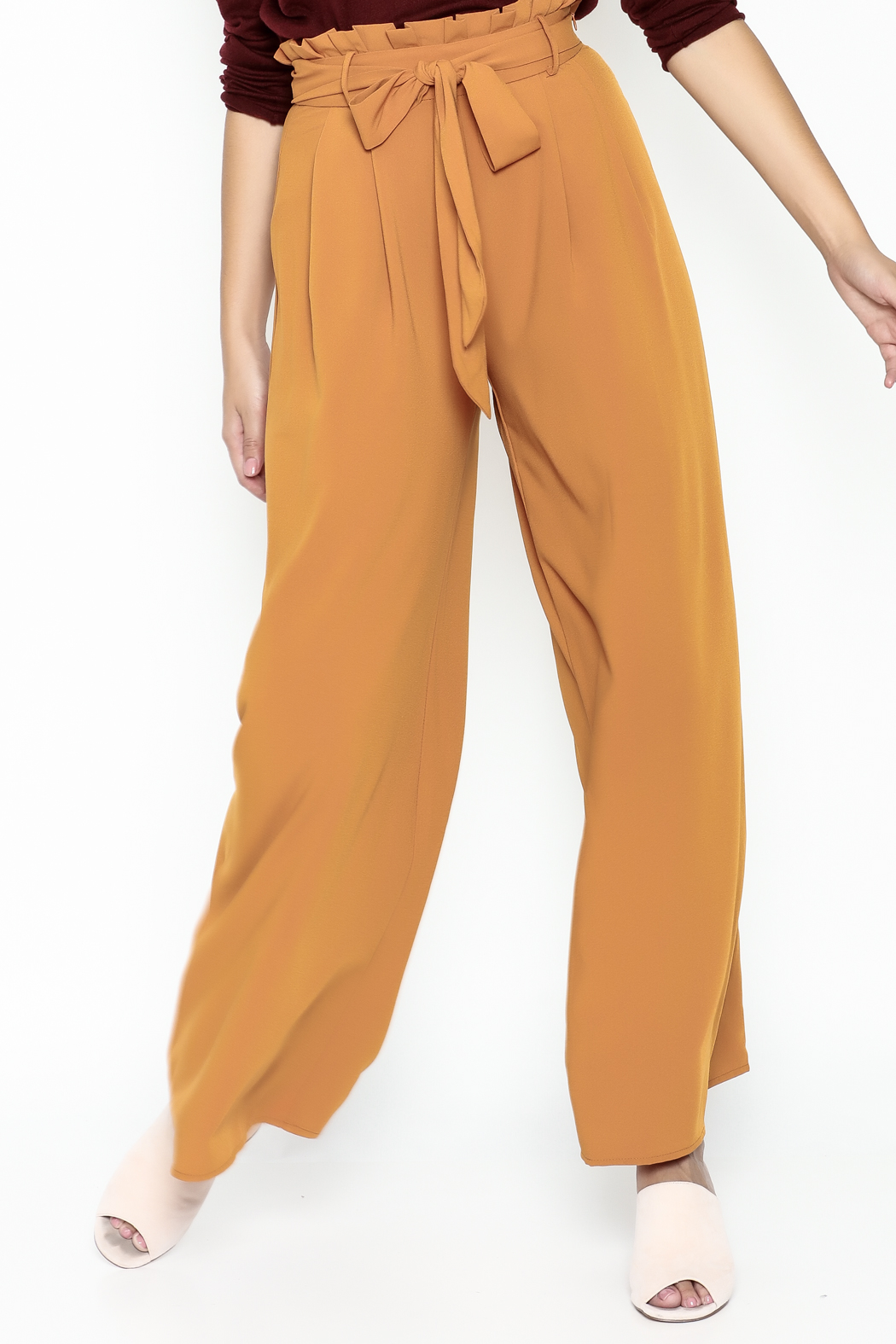 Jealous Tomato Paperbag Waist Pants - Front Cropped Image