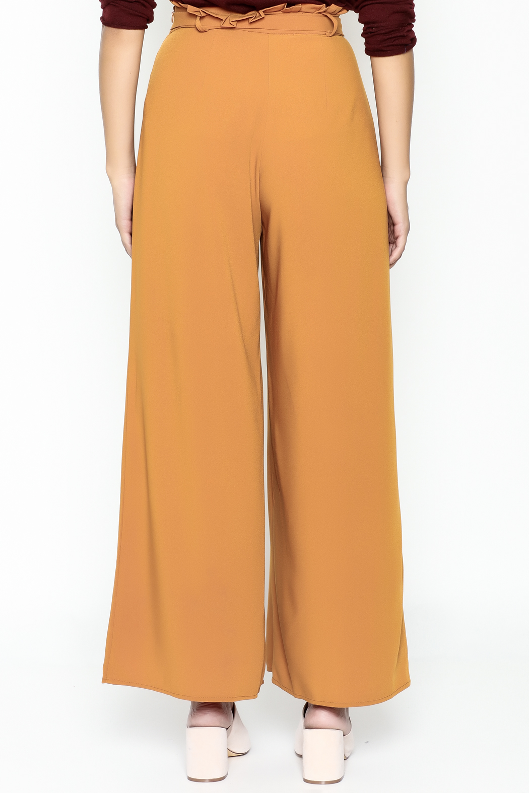 Jealous Tomato Paperbag Waist Pants - Back Cropped Image