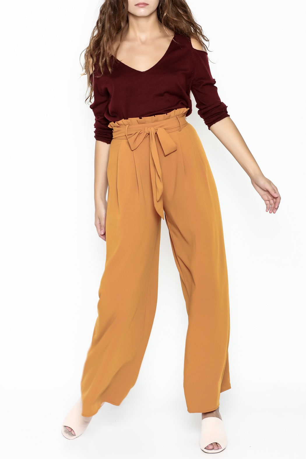 Jealous Tomato Paperbag Waist Pants - Side Cropped Image