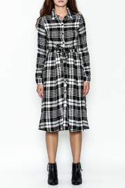 Jealous Tomato Plaid Shirt Dress - Front full body