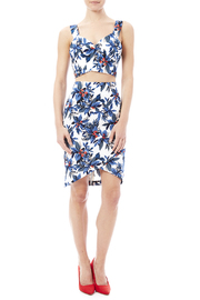Jealous Tomato Blue Tropical Crop Top - Front full body