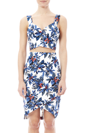 Jealous Tomato Blue Tropical Crop Top - Side cropped