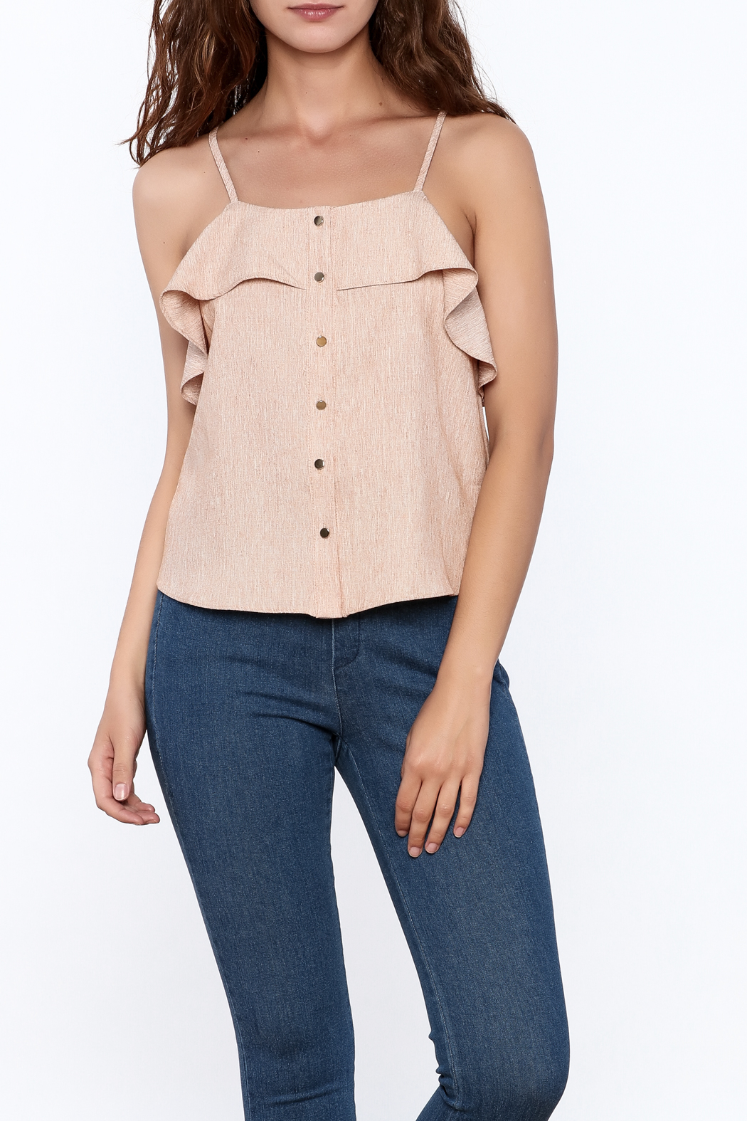 Jealous Tomato Ruffled Top - Front Cropped Image