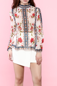 Shoptiques Product: Sheer Printed Top