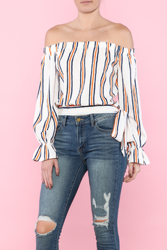 Shoptiques Product: Stripe Off-Shoulder Top