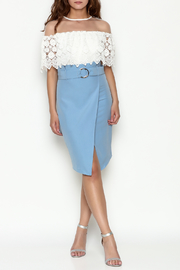 Jealous Tomato Blue Belted Skirt - Side cropped
