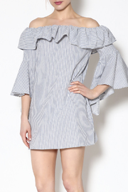 Shoptiques Product: Grey Stripe Dress