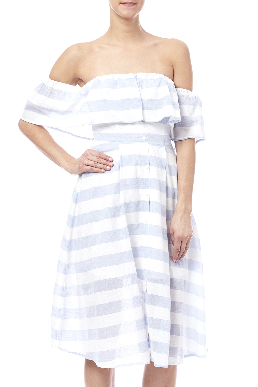 Jealous Tomato Stripe Dress - Front Cropped Image