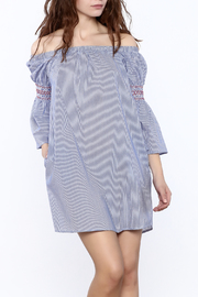 Shoptiques Product: Stripe Off-Shoulder Dress
