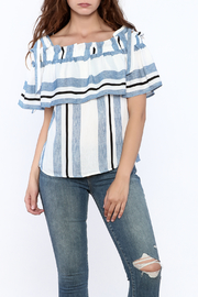 Jealous Tomato Stripe Print Boxy Top - Product Mini Image