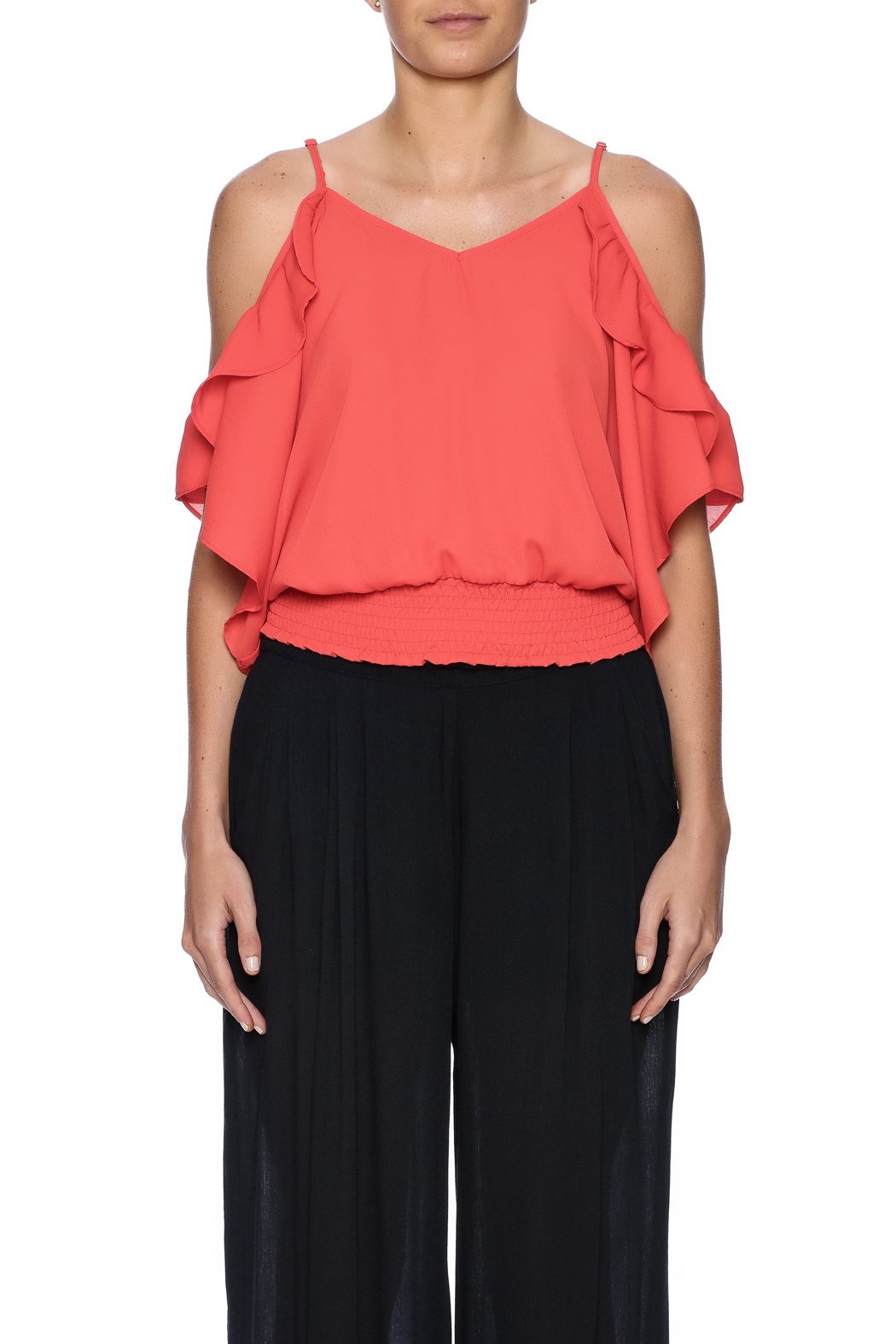Jealous Tomato Tomato Ruffle Top - Side Cropped Image