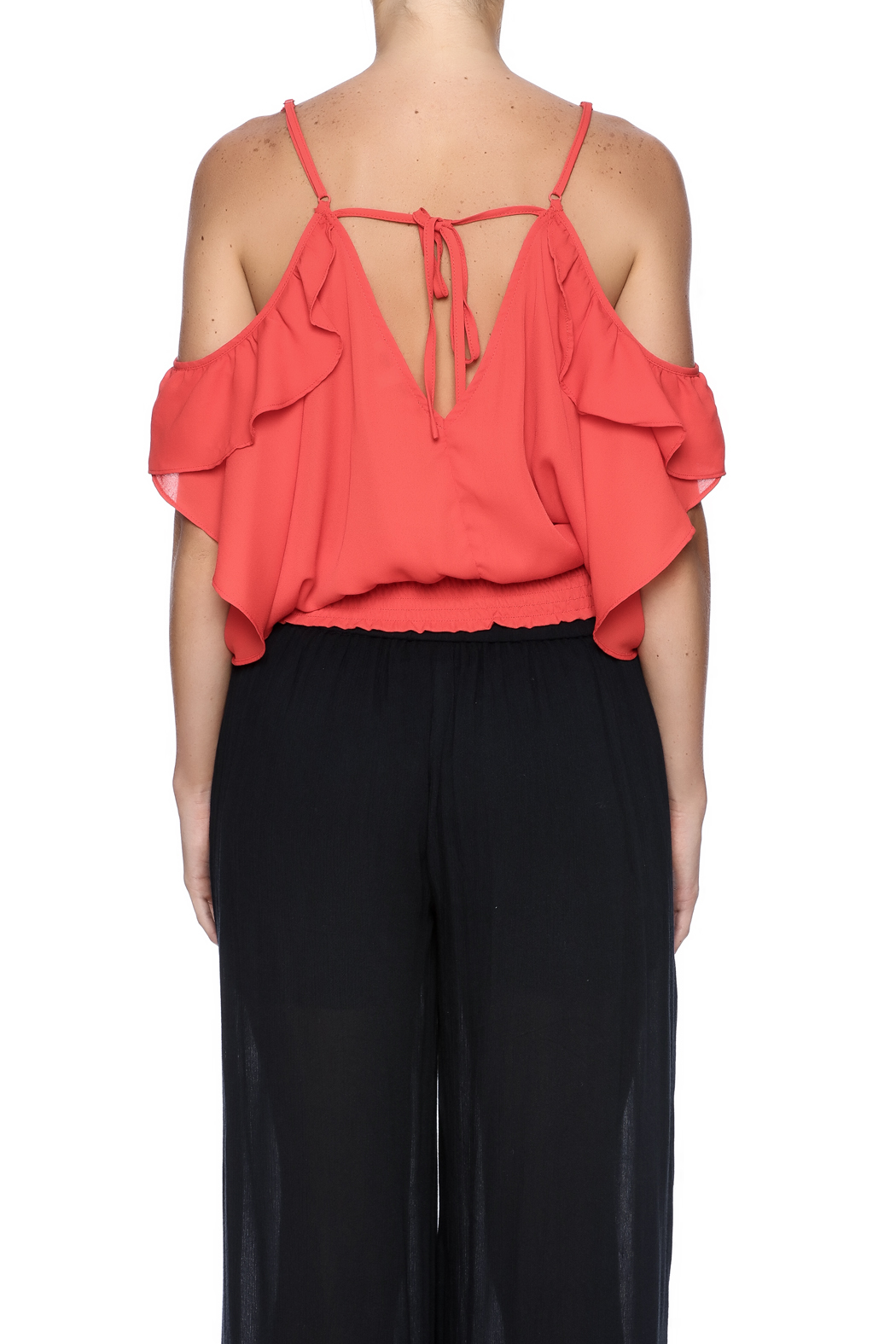 Jealous Tomato Tomato Ruffle Top - Back Cropped Image