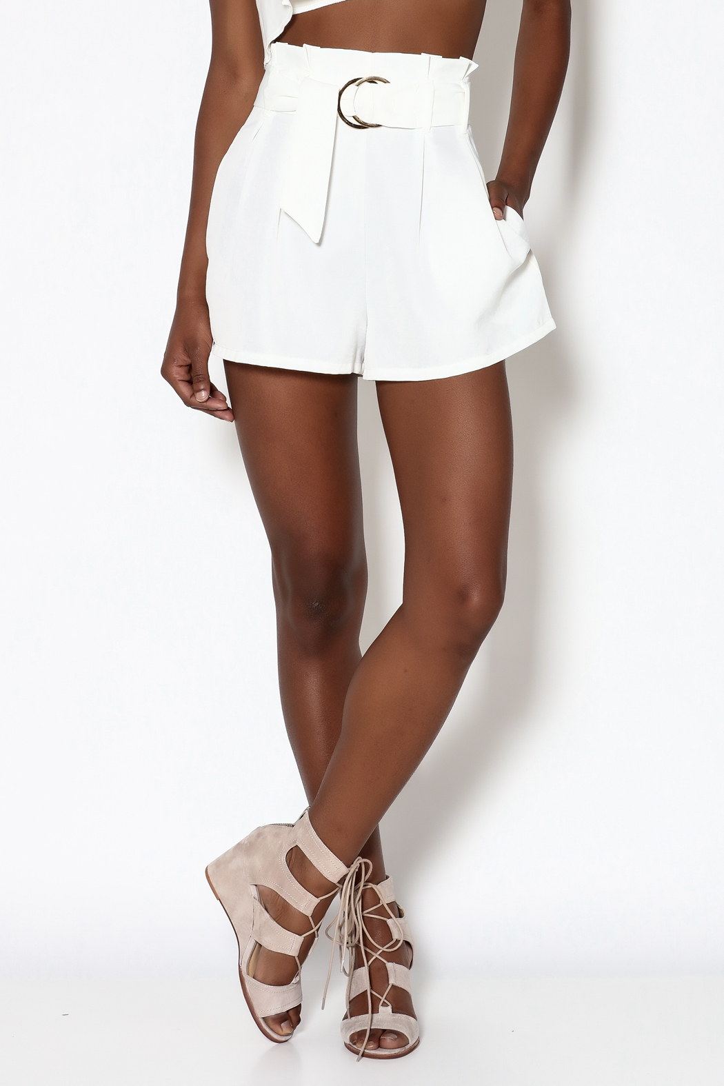 Jealous Tomato White High-Waist Shorts from Manhattan by Dor L'Dor ...