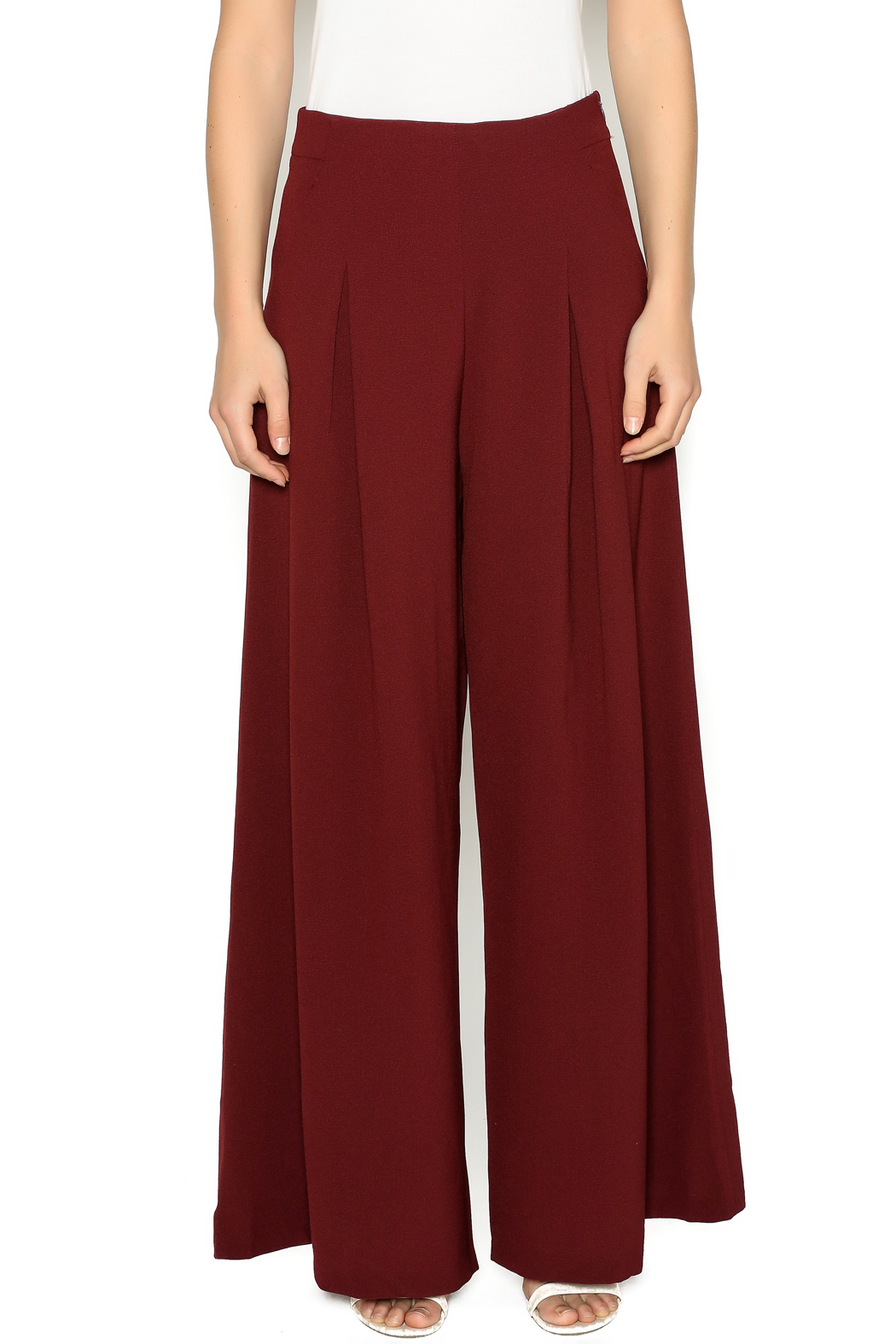 Jealous Tomatos Burgundy Palazzo Pants From Miramar Beach