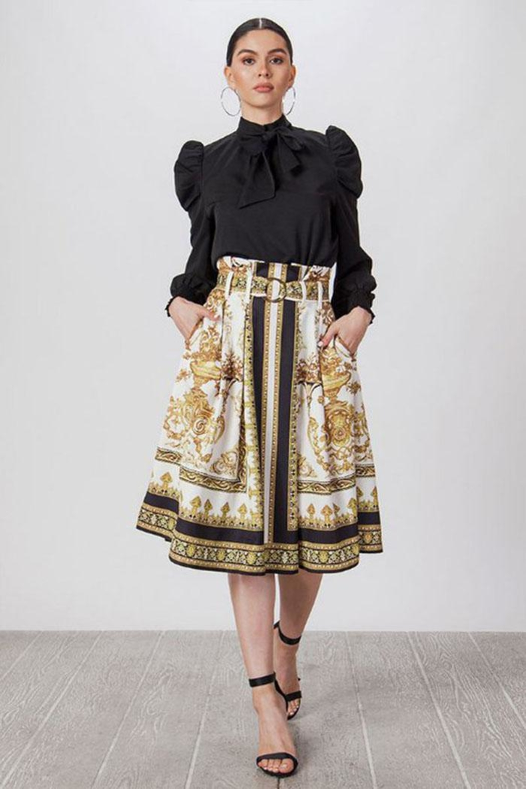 Jealous Tomato Baroque Pleated Skirt - Side Cropped Image