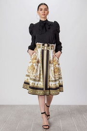 Jealous Tomato Baroque Pleated Skirt - Side cropped