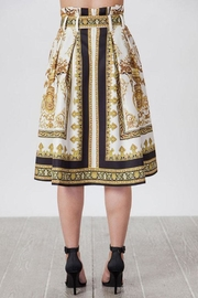 Jealous Tomato Baroque Pleated Skirt - Back cropped