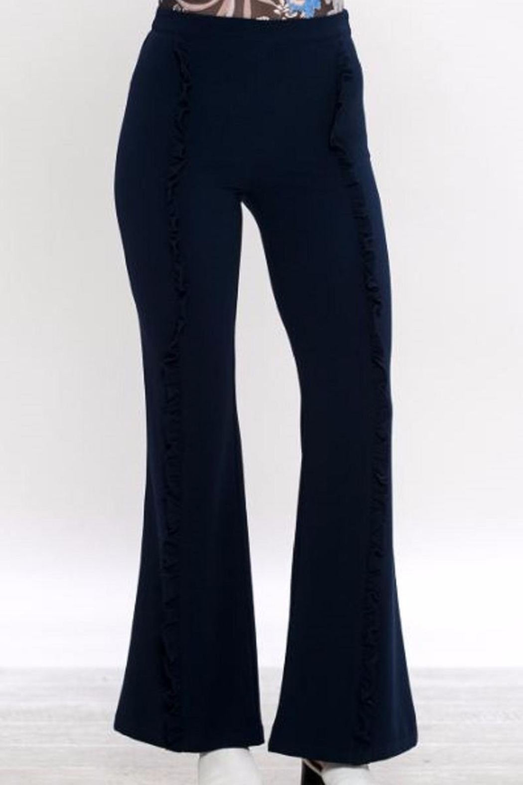 Jealous Tomato Bell Bottom Pants - Front Cropped Image