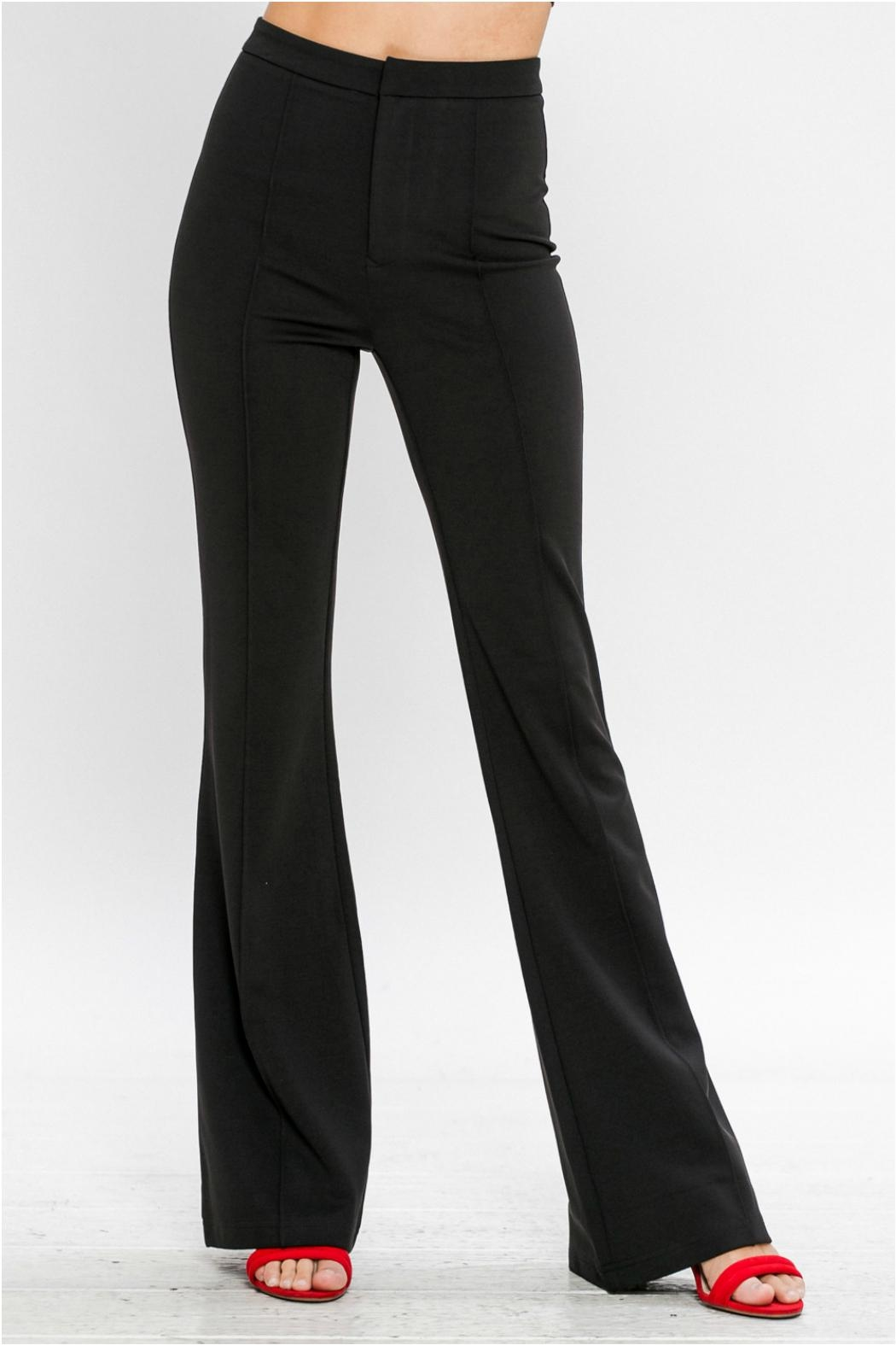 Jealous Tomato Belled Trousers - Front Cropped Image