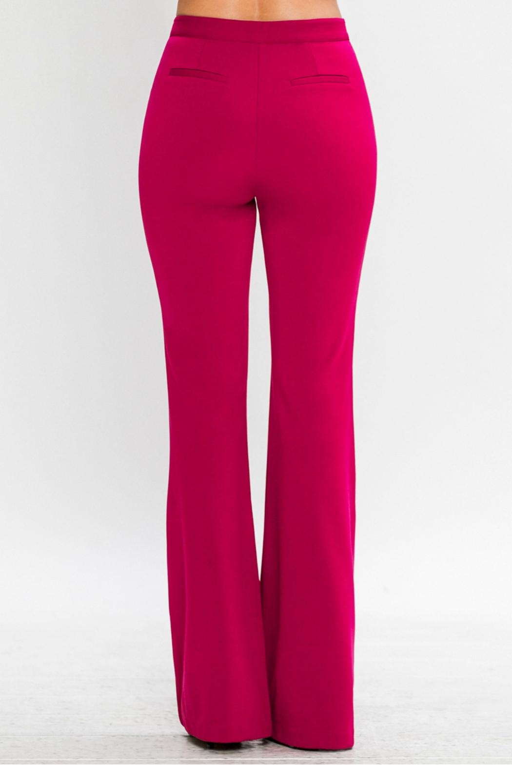 Jealous Tomato Belled Trousers - Back Cropped Image