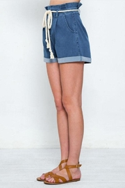 Jealous Tomato Belted Denim Shorts - Side cropped