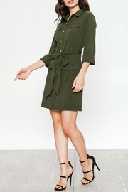 Jealous Tomato Belted Military Dress - Front cropped