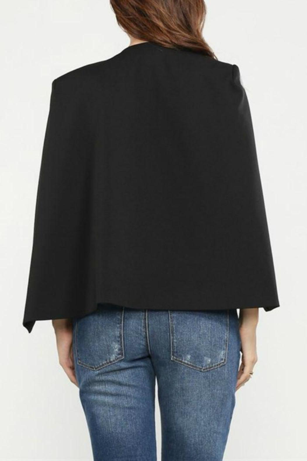 Jealous Tomato Black Cape Blazer - Side Cropped Image