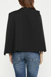Jealous Tomato Black Cape Blazer - Side cropped