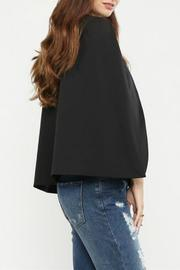 Jealous Tomato Black Cape Blazer - Front full body