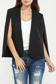 Jealous Tomato Black Cape Blazer - Front cropped