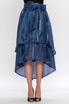Jealous Tomato Blue Satin Skirt - Product List Image