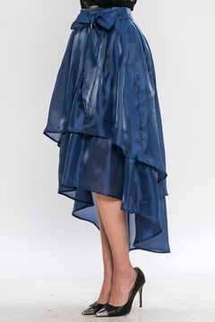 Jealous Tomato Blue Satin Skirt - Alternate List Image