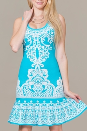 Jealous Tomato Blue Sky Mini Dress - Front cropped