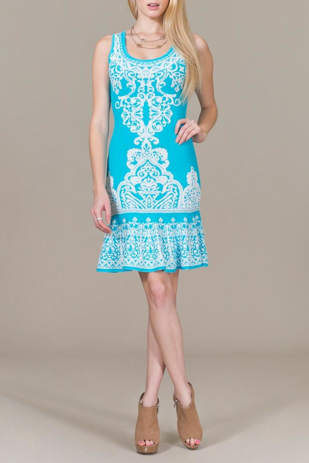 Jealous Tomato Blue Sky Mini Dress - Side Cropped Image