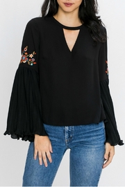 Jealous Tomato Choker Floral Top - Front full body