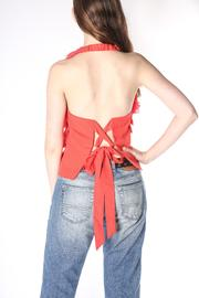 Jealous Tomato Coral Ruffle Halter - Front full body