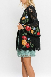 Champagne & Strawberry Crochet Lace Jacket - Side cropped