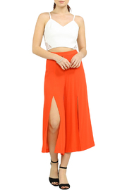 Jealous Tomato Cropped Gaucho Pants - Front full body