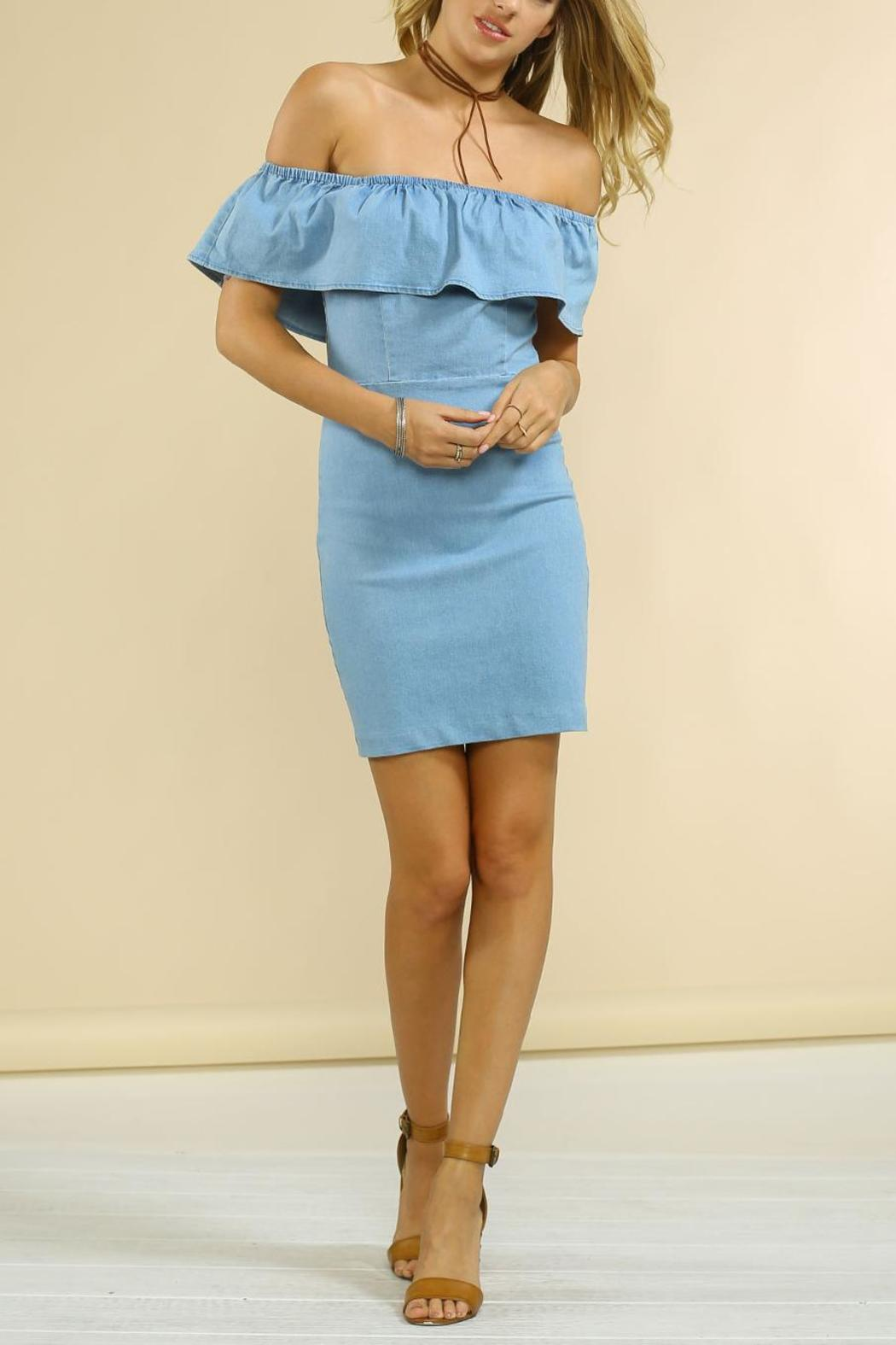Jealous Tomato Denim Ruffle Dress from New York City by Suite275 ...