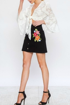 Shoptiques Product: Embroidered Denim Skirt