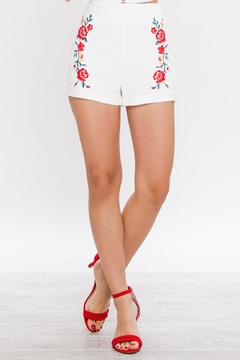 Shoptiques Product: Embroidered High Waisted Shorts