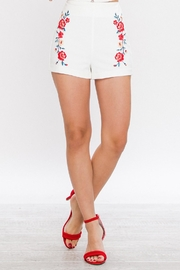 Jealous Tomato Embroidered High Waisted Shorts - Product Mini Image