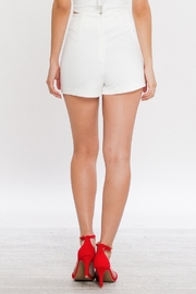 Jealous Tomato Embroidered High Waisted Shorts - Front full body
